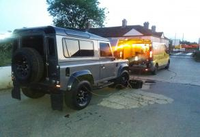 Land Rover Defender Petrol in Diesel Recovered