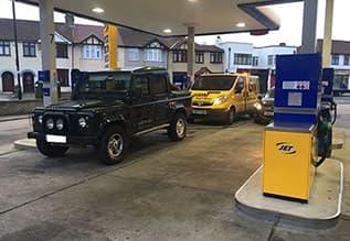 petrol in diesel car being drained