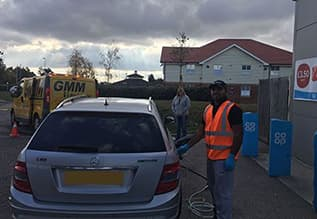 Wrong fuel drained from car