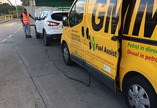 Draining wrong fuel from a car